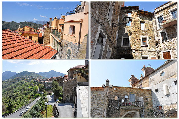 Perinaldo, bourg médiéval situé dans la Province d'Imperia (Ligurie) Italie Perinaldo25avril10_08
